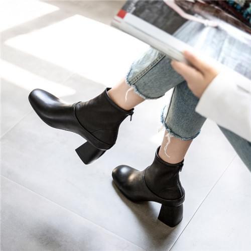 弹性羊皮袜靴