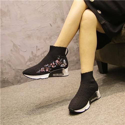 松糕袜子高帮女袜靴