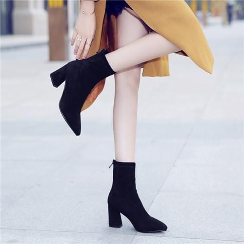 春秋中筒袜靴